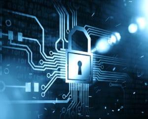 Seguridad : candado sobre circuito
