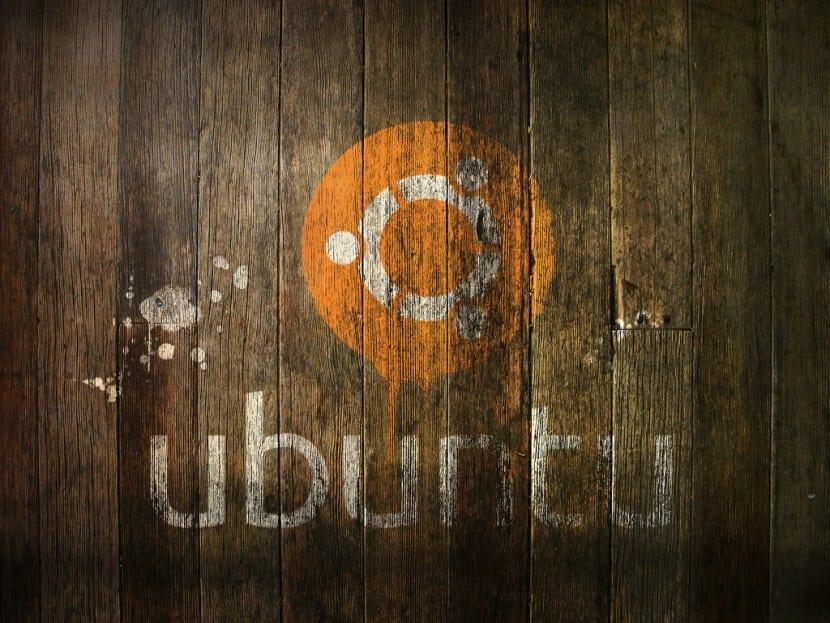 Ubuntu Logo Madera