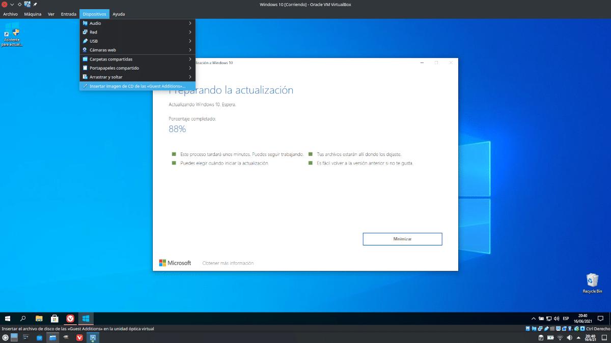 Instalar Guest Additions en VirtualBox