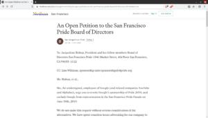 La petición en línea contra Google