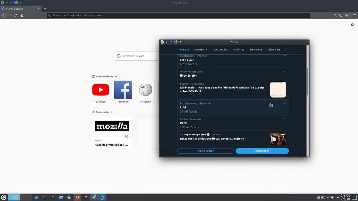 Webapp de Firefox