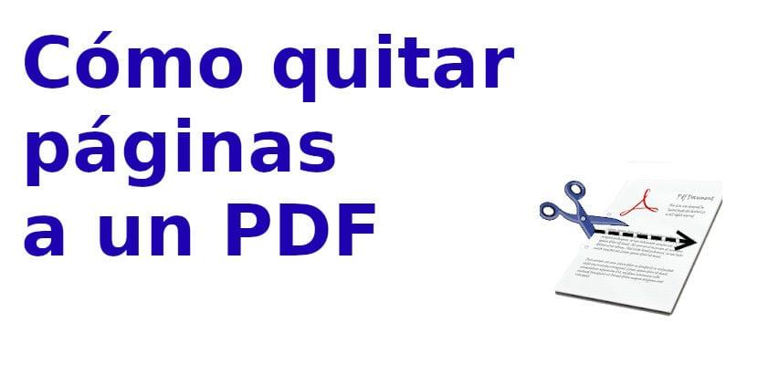 Cómo quitar páginas a un pdf