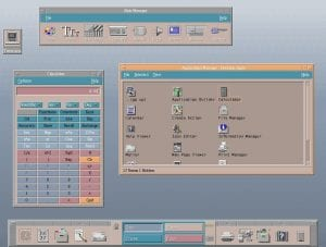 Entorno de escritorio CDE con algunas ventanas abiertas