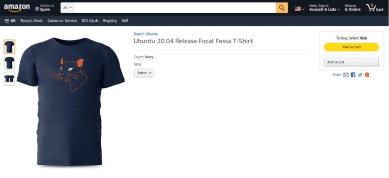 Camisa de Ubuntu 20.04