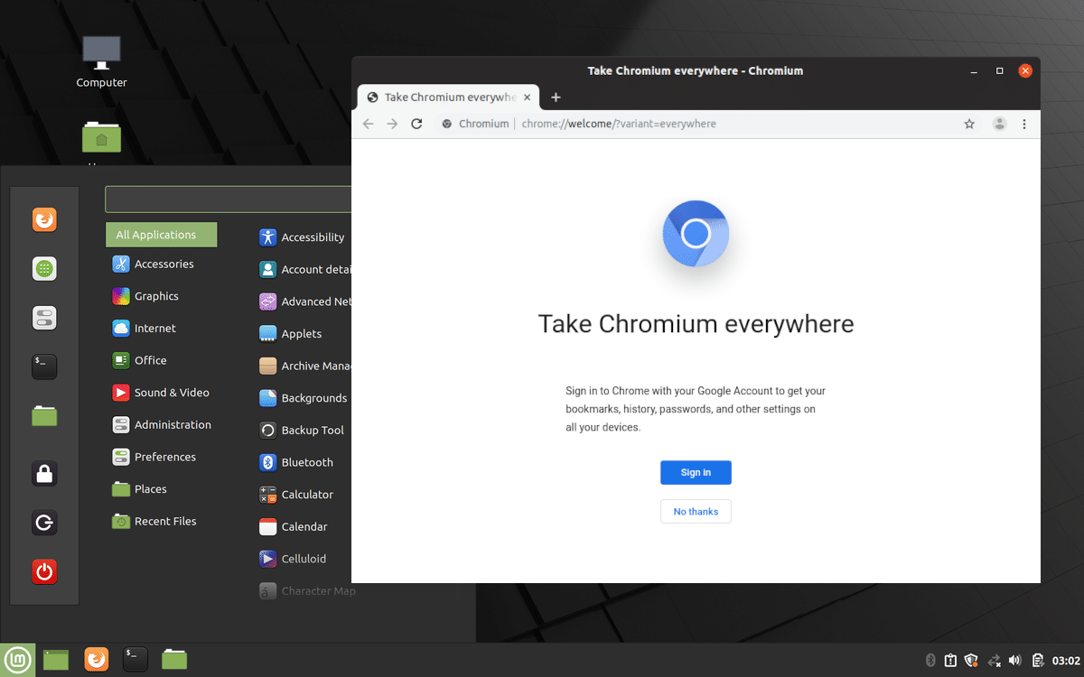 Chromium en Linux Mint