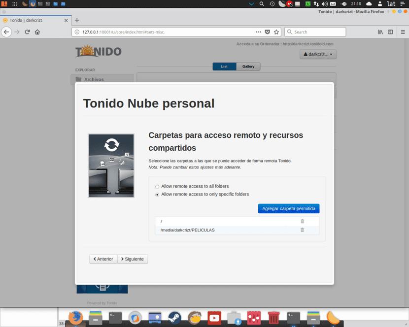 Configuracion de Tonido en Linux