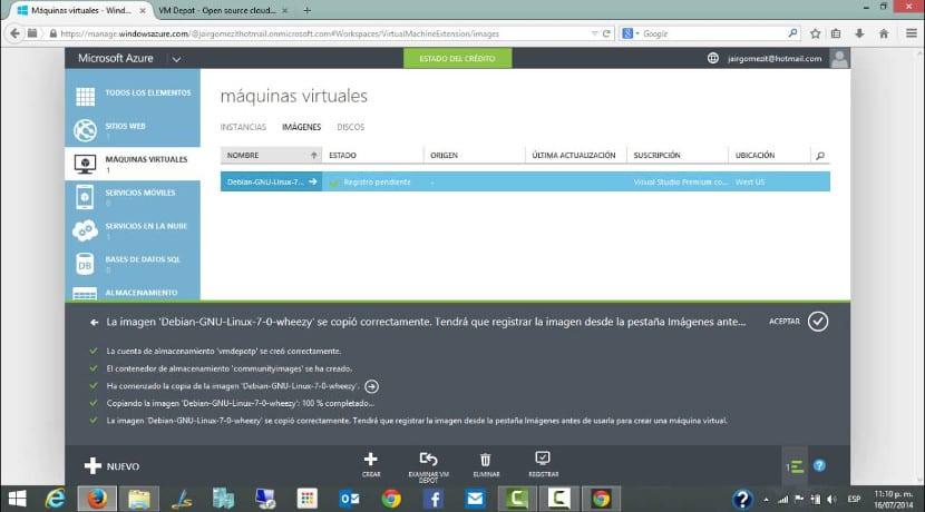 Debian en Microsoft Azure