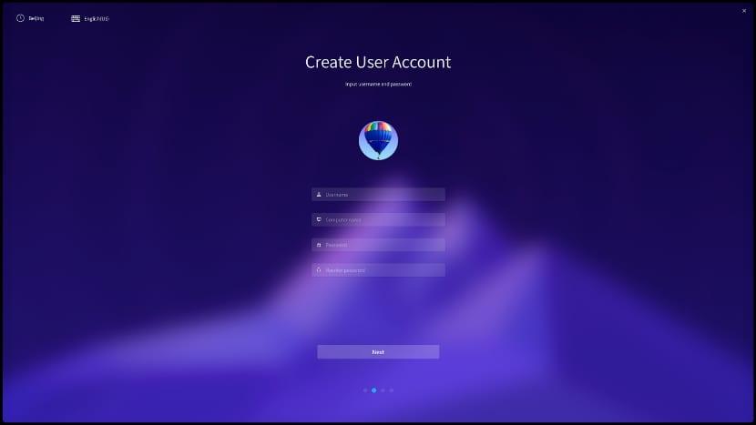 Deepin cuenta de usuario