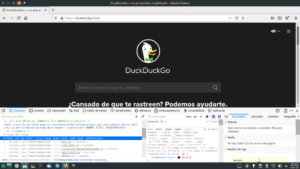DuckDuckGo en modo oscuro en Firefox 87