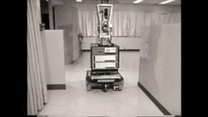 Foto de Shakey, un robot que tomaba decisiones