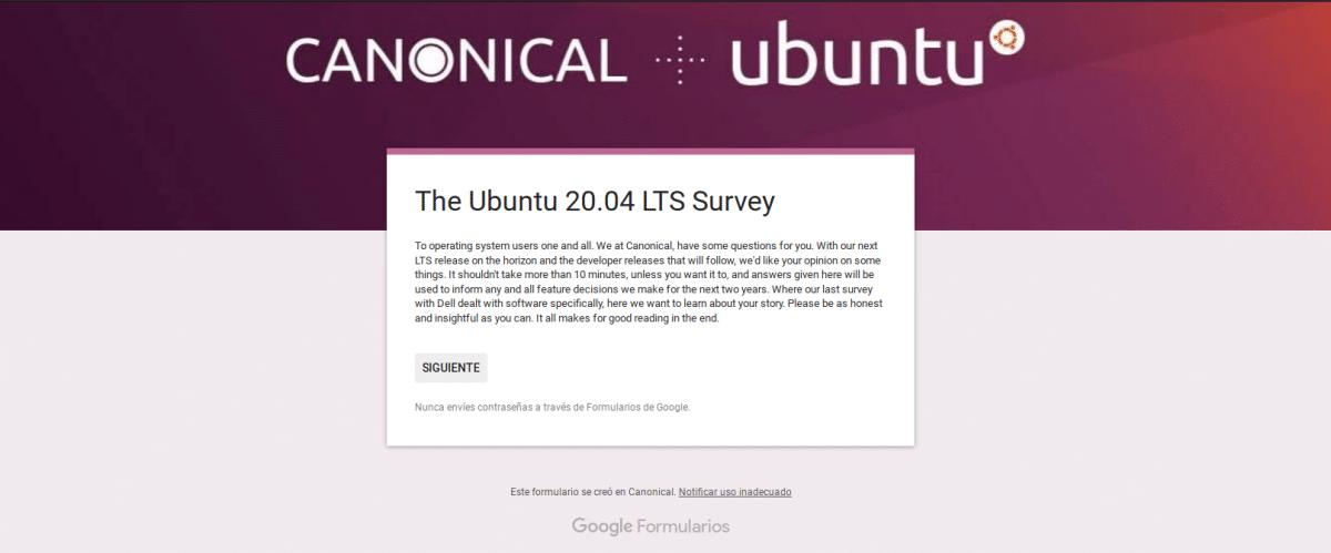 Encuesta sobre Ubuntu 20.04 Focal Fossa