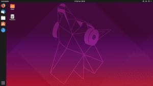 Captura de pantalla de Ubuntu 19.04