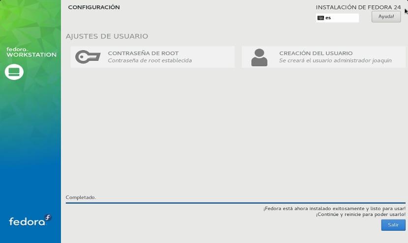 Instalación de Fedora 24