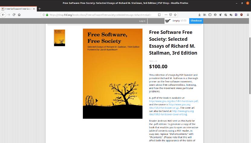 La firma de Stallman en este libro, aumenta su valor en 45 dólares