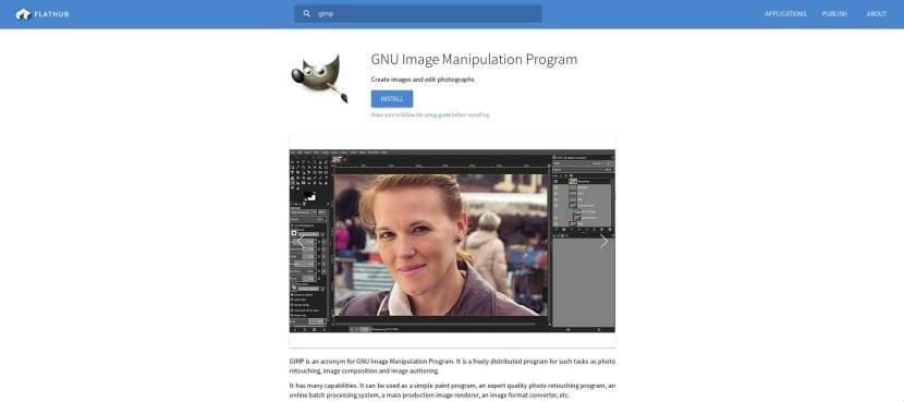 GIMP 2.10.12 en Flathub