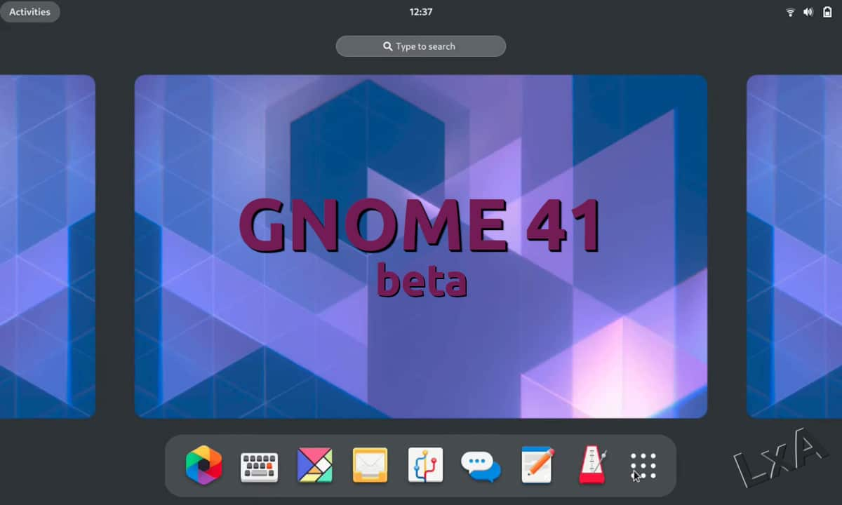 GNOME 41 beta