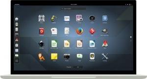Escritorio Gnome 3.24 sobre un portátil.