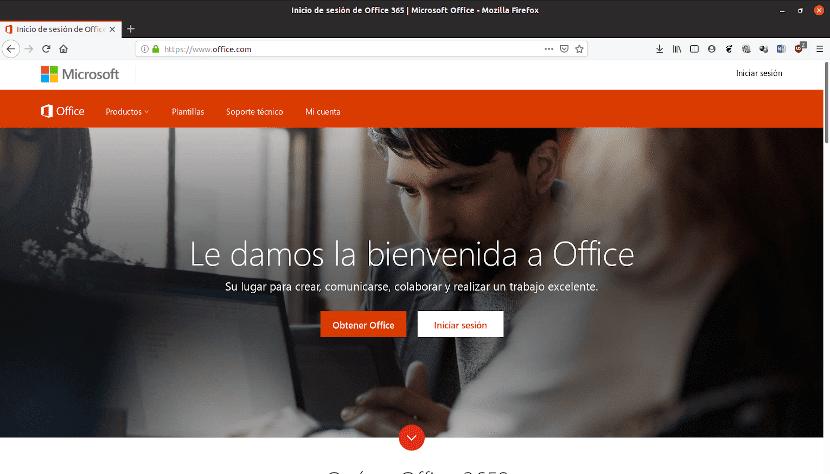 Inicio de sesión en Office 365