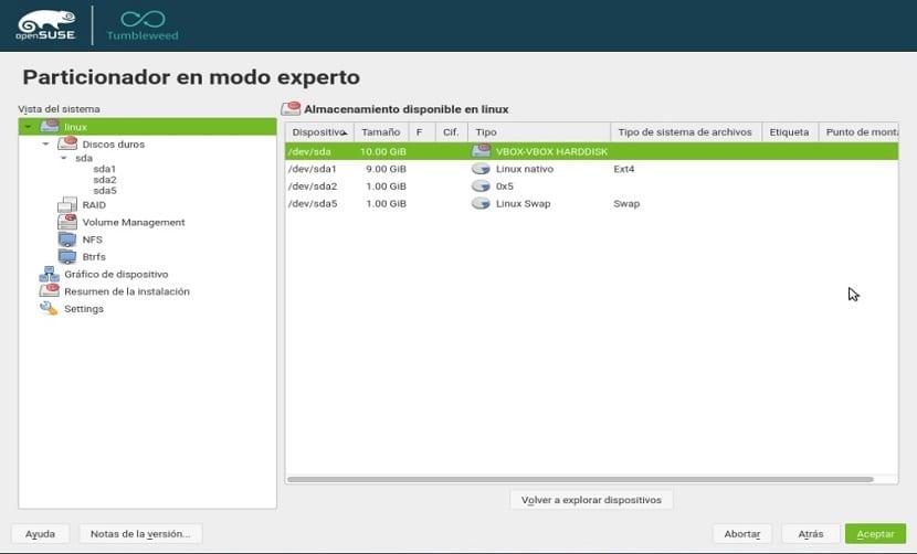 Instalación de openSUSE Tumbleweed 4.1