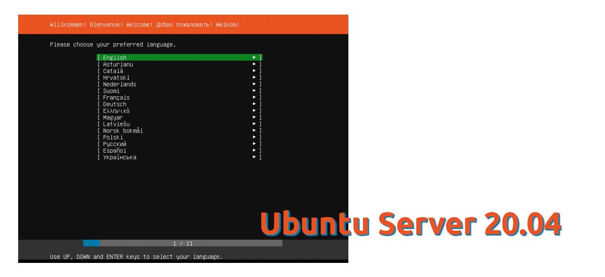 Instalador de Ubuntu Server 20.04
