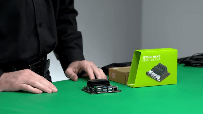 Caprtura de pantalla del video de presentación del Jetson Nano Developer Kit