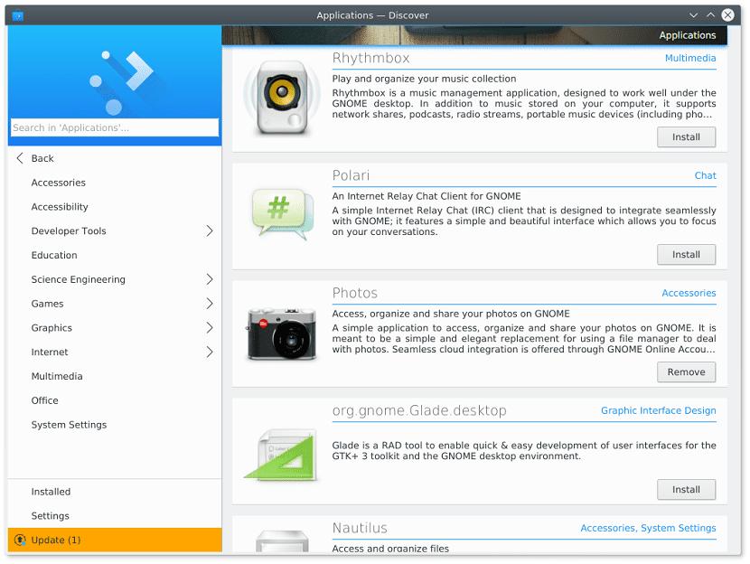 Imagen KDE Discover Flatpak
