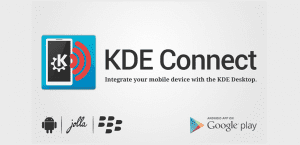 Logotipo oficial de KDE Connect.