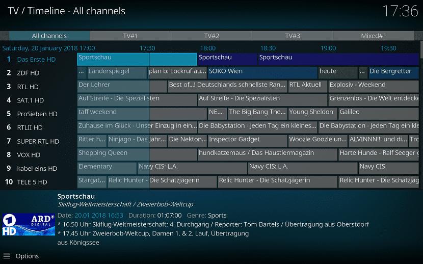 Kodi 18 tv