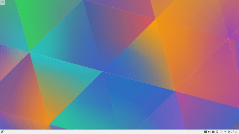 Éste fondo de pantalla tan llamativo junto con nuevos iconos es la principal novedad de Plasma 5.4