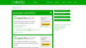 LibreOffice 6.3.1 y 6.2.7