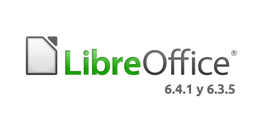 LibreOffice 6.4.1 y 6.3.5