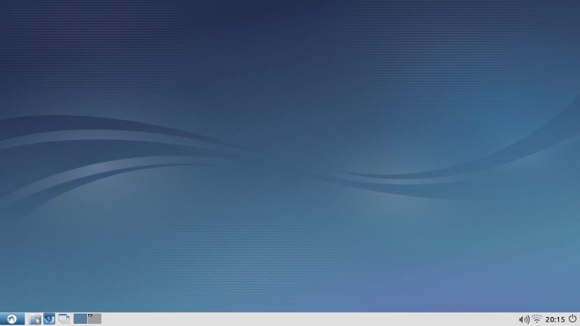 Imagen de LXDE con el tema de escritorio de Lubuntu.