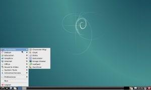 Captura de pantalla de un sistema liviano con Debian LXDE