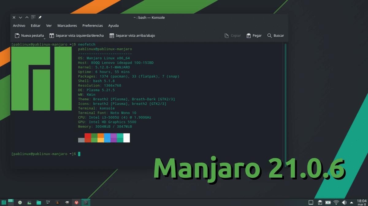 Manjaro 21.0.6