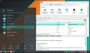 Manjaro KDE 17, captura de pantalla.