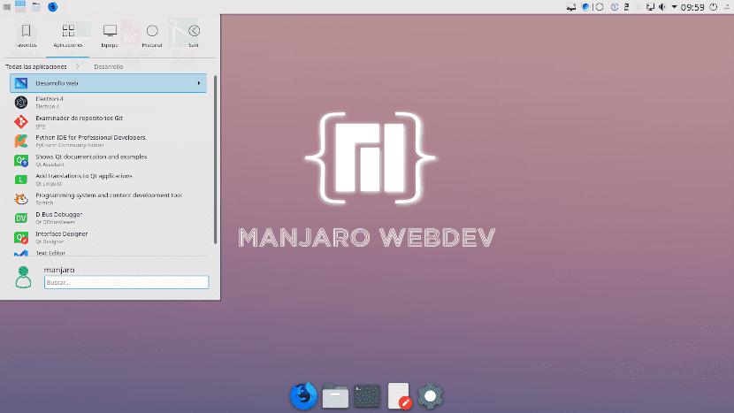 Manjaro Webdev es una distribución pensada para desarrolladores web y programadores