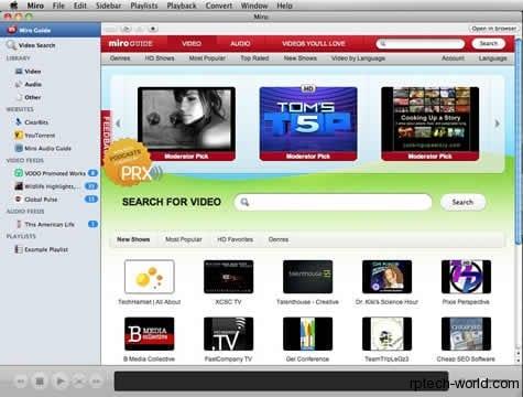 Miro 3.5 Reproductor HD gratuito para Linux