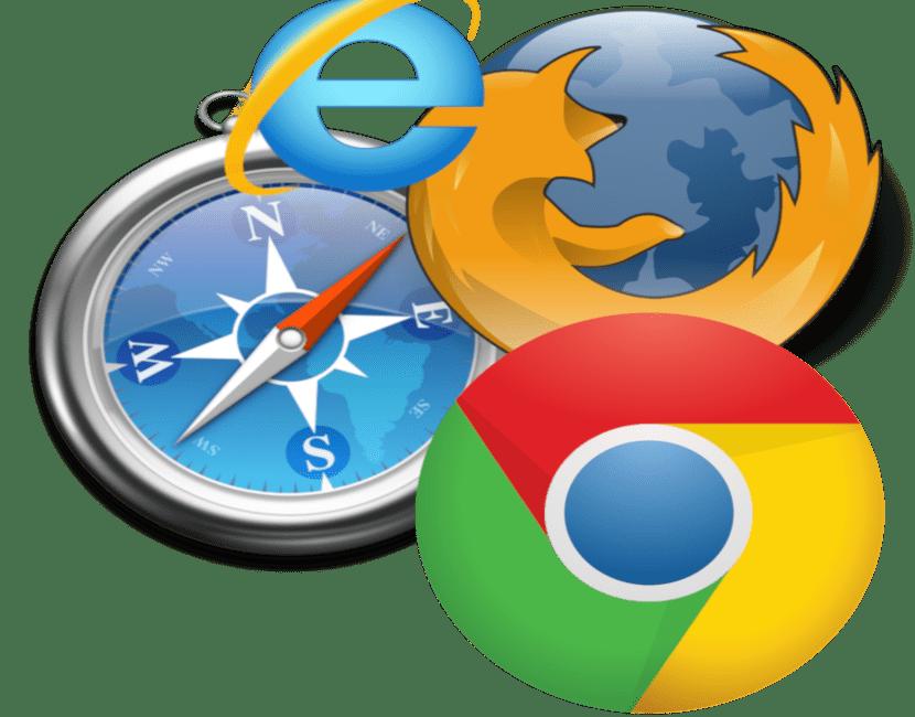 Iconos de navegadores web
