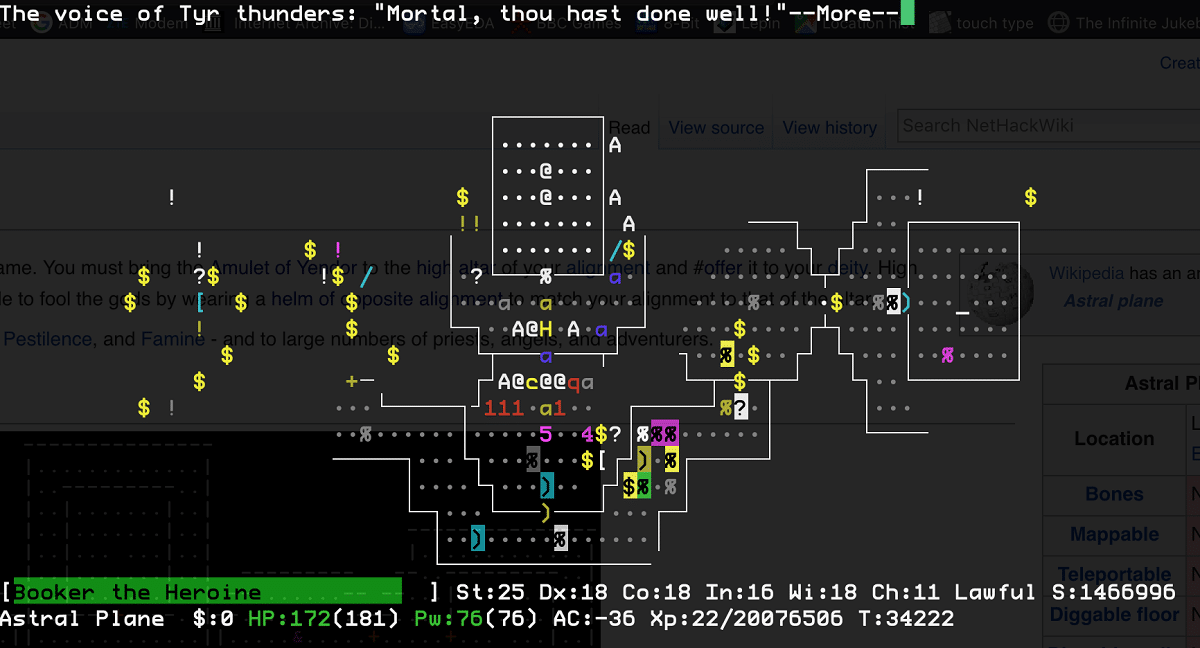 NetHack Linux