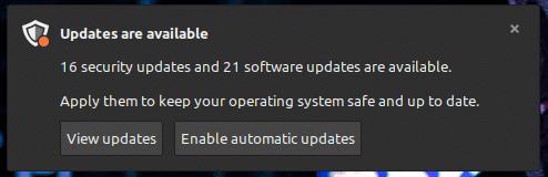 Notificación para actualizar