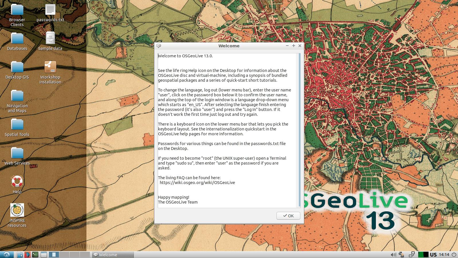 OSFeoLive es una distribución para análisis geoespacial