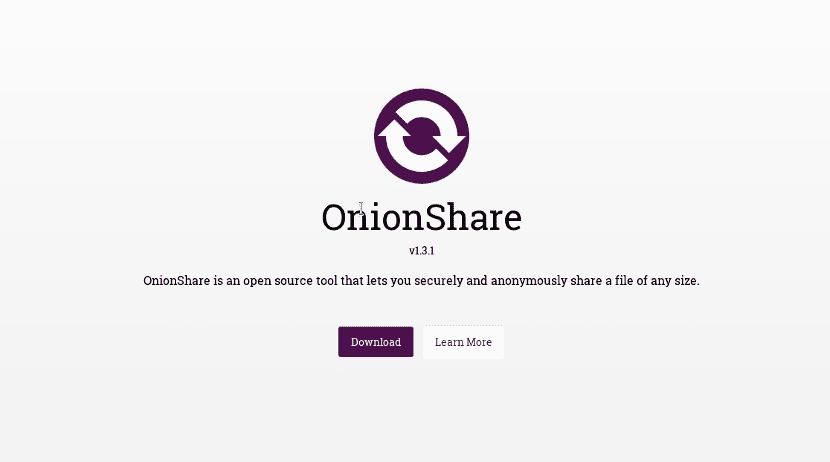 Logotipo de la web de Onionshare