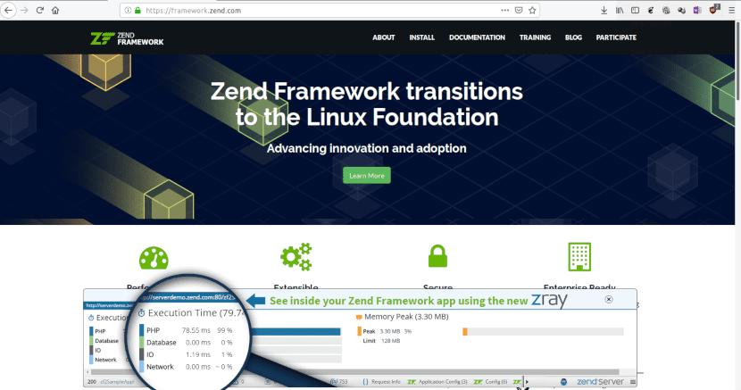 Página web de Zend Framework