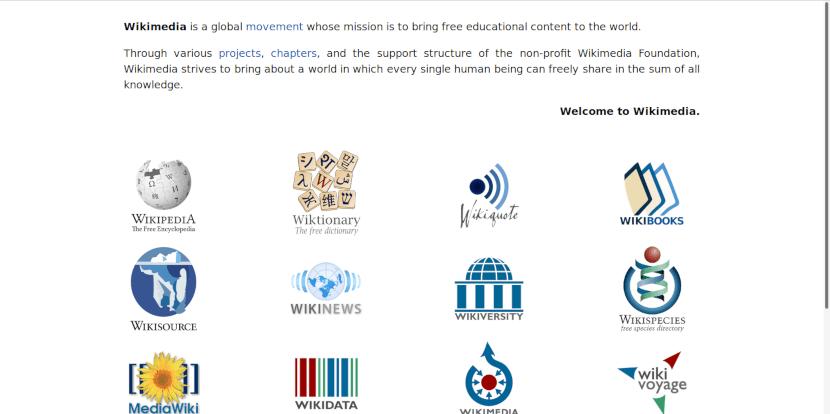 Página web del proyecto Wikimedia, en el cual la ganadora participa activamente.