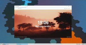 Pantalla de bienvenida de Dot Browser