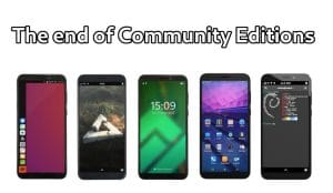 PinePhone, fin de las Community Edition