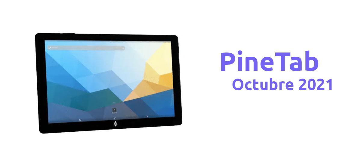 PineTab en octubre de 2021