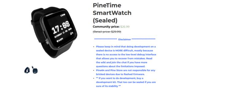 PineTime ya disponible