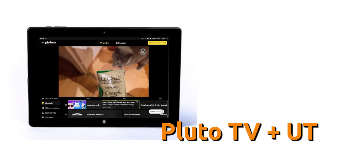 Pluto TV en Ubuntu Touch