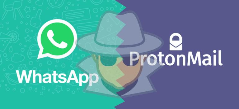 ProtonMail y WhatsApp espiados